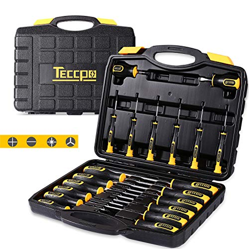 (Screwdriver Set, Professional 20-Piece Screwdriver Tool Set with Case, 6150CRV, Precision Slotted/Phillips/Torx Screwdriver with Heavy Duty Magnetic Tips, Craftsman Tool Kits TECCPO-THTC03H)