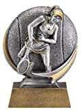 Etch Workz Tennis Trophy Female - 5'' Tall - Engraved & Personalized Free, Tennis Trophies and Awards