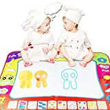 80X60cm Water Drawing Toy Painting Writing Mat Board 2 Magic Pens Doodle Mat FS