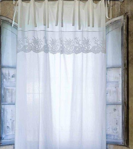 Tenda Blanc Mariclò, Villa Borbone, 140x290 cm, 100% lino. color ...