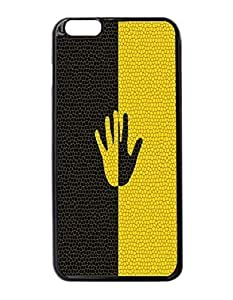 Hand Black and Yellow Art Durable Unique Design Hard Back Case Cover For iPhone 6 Plus - 5.5