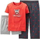 Carter's Baby Boys 3 Piece Cotton & Jersey Pajamas Set (Crab)