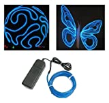 Esky 9ft Blue Neon Glowing Strobing Electro Luminescent Electroluminescent Wire (EL Wire)