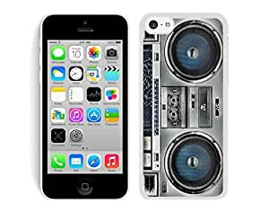 TPU Iphone 5c White Case Boombox Soft Silicone Mobile Phone Protective Cover