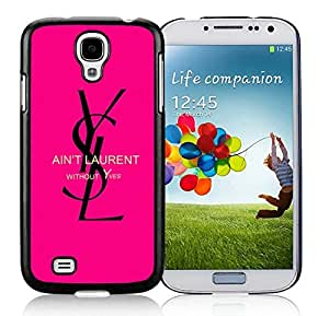 Fahionable Custom Designed Samsung Galaxy S4 I9500 i337 M919 i545 r970 l720 Cover Case With YSL 2 Black Phone Case