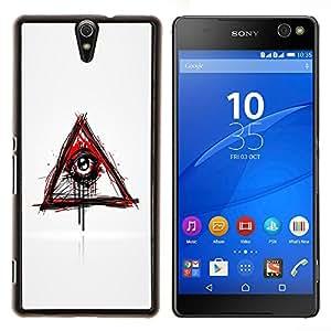 Caucho caso de Shell duro de la cubierta de accesorios de protección BY RAYDREAMMM - Sony Xperia C5 Ultra - Mal Sangrado Illuminati Ojo