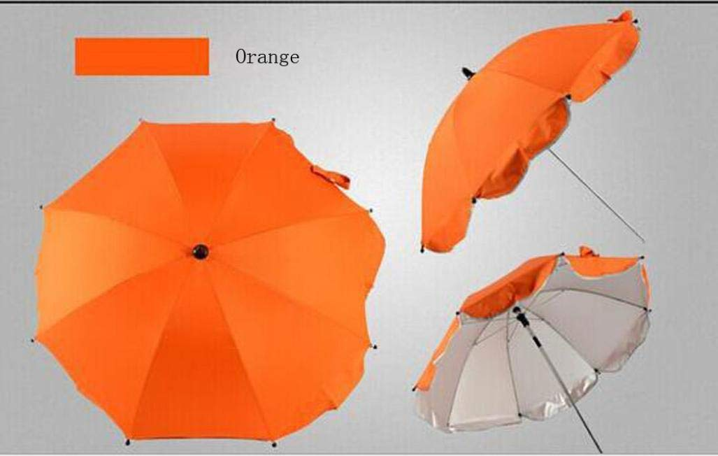 Baby Stroller Umbrella,Sunbona Baby Stroller Cover Parasol with Universal Clamp for Sun Rain Protection UV Rays Outdoor Umbrella Beige