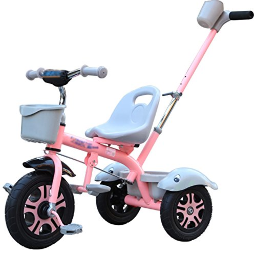 Kids' Bikes Kids' Road Bicycles Children's Bicycles Stylish Children's Bicycles Boys and Girls Three-Wheeled Bicycles Children'sstrollers Outdoor Picnic Strollers Portable Belts (Color : Pink)