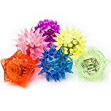 Fun Central AC809 LED Flashing Jelly Rings - Assorted Styles and Colors 24ct Light Up