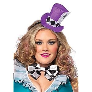 Leg Avenue Women's Plus-Size 4 Piece Manic Mad Hatter