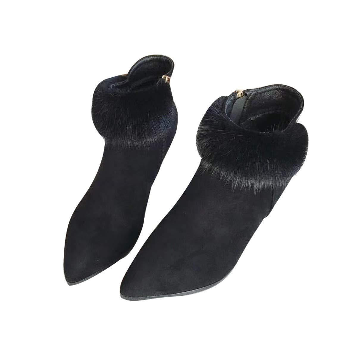 LBTSQ-Kurze Stiefel Haben Kröten Martin Stiefel Damenschuhe Dünnen Absätzen High Heels Witze Mode Mao Mao-Stiefel.