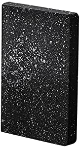 Nuuna Graphic S Luxury Dot Grid Notebook with Leather Cover - MILKY WAY - Black/Silver