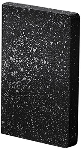 Nuuna Graphic S Luxury Dot Grid Notebook with Leather Cover - MILKY WAY - Black/Silver (Dots Milky)