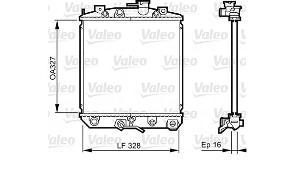 VALEO Engine Cooling Radiator Fits DAIHATSU Cuore Domino ... on