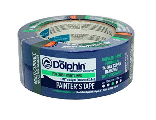 Blue Dolphin Blue Masking Tape 2in X 60yd - Case Of 24 Rolls by Blue Dolphin