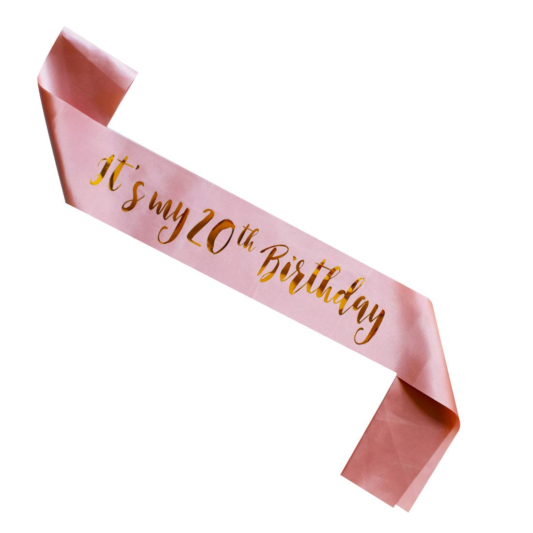 MAGJUCHE Its My 20th Birthday Sash Rose Gold Girl 20 Years Gifts Party Supplies