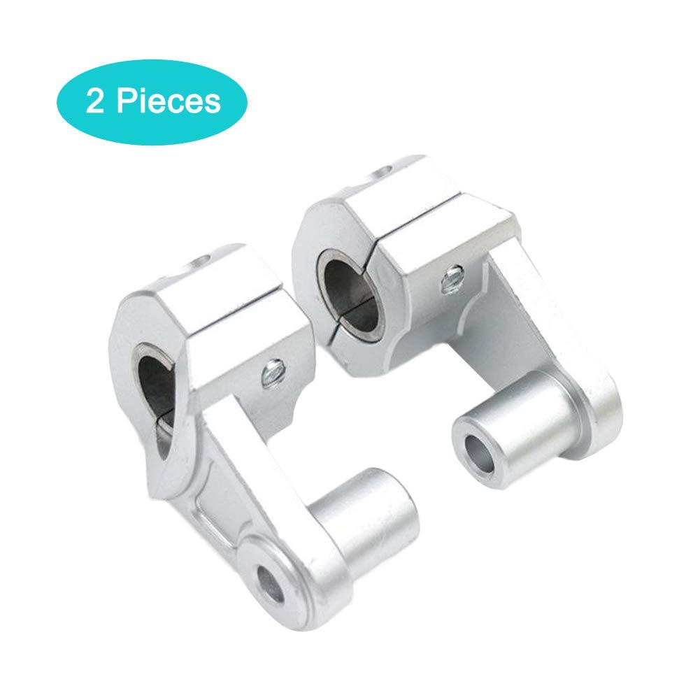 2 Pcs 28mm /étendre Riser de Montage Poign/ées Clamp Moto Support Accessoires Universel Rehausseurs de Guidon pour Moto Riser Guidon 22mm