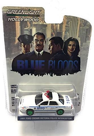 NYPD BLUE BLOODS 1//64 CAR 44760D GREENLIGHT 2001 FORD NEW YORK CITY POLICE