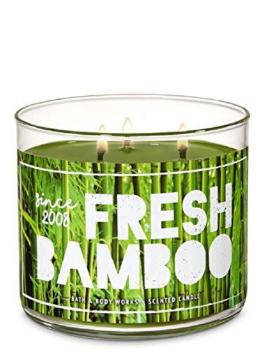 Bath and Body Works Fresh Bamboo Scented 3 Wick Candle 14.5 oz (bamboo, jasmine, grasses)