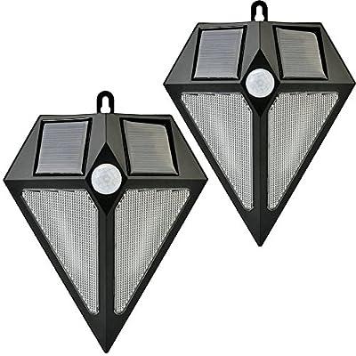 [2 Pack] InaRock 2-in-1 Solar Powered LED Outdoor Garden Spotlight Landscape Light Track Lighting Site Lighting - Waterproof Outdoor Wall Light Waterproof Wall Light Security Night Lights