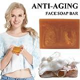Face Soap Bar Anti-Aging Face Wash Handmade Bar Soap Organic Soap for Men Women (Ginseng anti aging bar 100g)