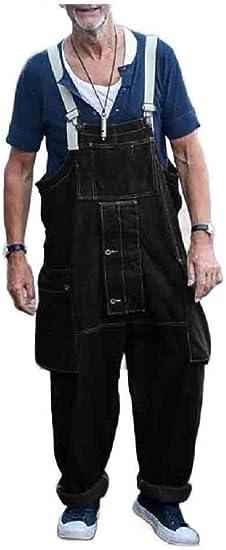 Candiyer メンカウボーイトラウザーズマルチポケットファッションカジュアルデニムパンツ