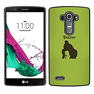 LECELL--Funda protectora / Cubierta / Piel For LG G4 -- Tarzn --