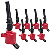 98 mustang ignition coil pack - CarBole Pack of 8 High Performance Red Ignition Coil for Ford Lincoln Mercury 4.6L 5.4L V8 DG508 C1454 C1417 FD503