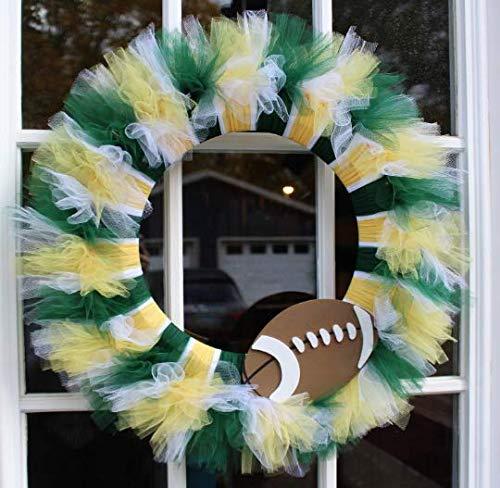 Wreath Nfl (NFL Football Themed Tulle Wreath)