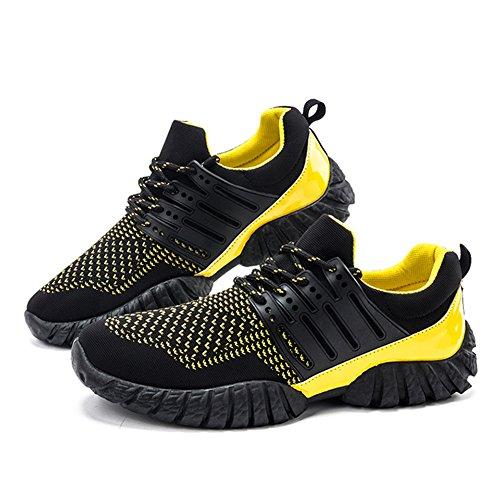 tragen Schuhe Gummisohle gelb und atmungsaktiv vamp rutschfeste Sport Modeschuhe hohlen laufenden Fitness Laufschuhe bequem Kivors® nzwqt6UT88