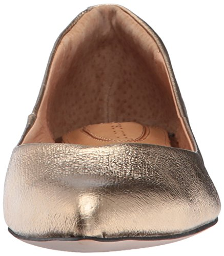 Leather Corso Ballet Opportunity Shoes Cracked Como Women's Flat Julia Gold zwB5qw