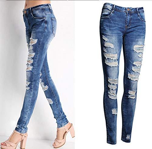 Jeans Jean Jeans Jeggings Hipster clair Droite Slim Denim Amplaue Taille A Jeans Boutonnage Haute Caprijeans de Boyfriend Denim Femme Fermeture Mince Patte Jambe surdimensionne Pantalons w0HXdXIq