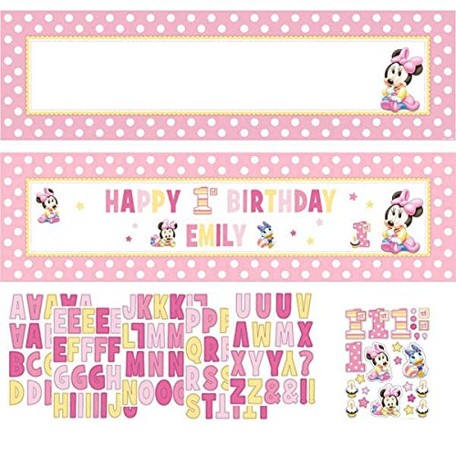 Minnie's 1st Birthday Customizable Giant Banner