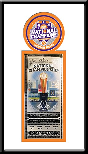 Tickets Football Tigers (Clemson Tigers 2016 Football National Champions Single Ticket Frame)