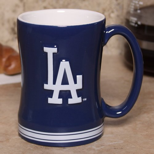 L.A. Dodgers Navy Blue 15oz. Ceramic Relief Mug