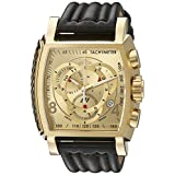 Invicta Men's 20241 S1 Rally 18k Ion-Plated Stainless Steel Watch with Black Leather Band