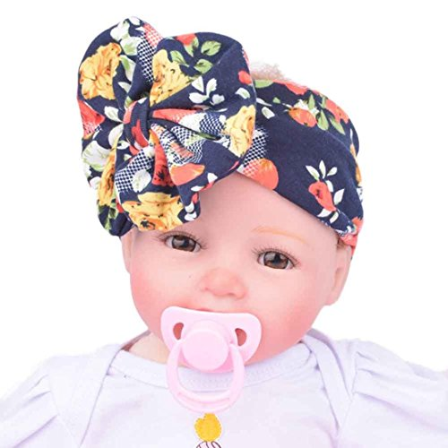 Domino Dollhouse Costumes (Baby Infant Kids Girls Headwrap Hairband With Bowknot Hairband Turban Bowknot (#)