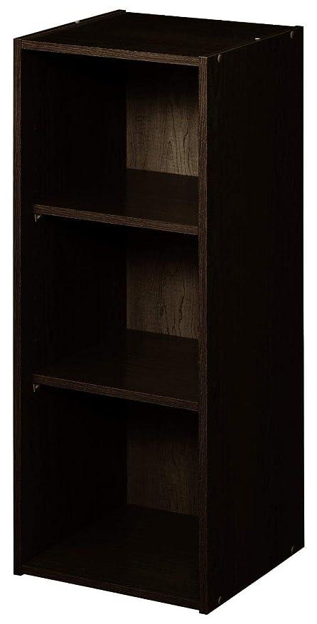 Amazon Com Closetmaid 8985 Stackable 3 Shelf Organizer Espresso