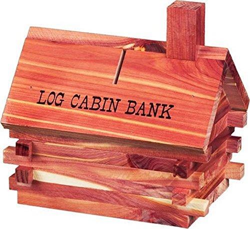 Log Cabin Bank Cedar Chest, 5''x7'' 475 by ah