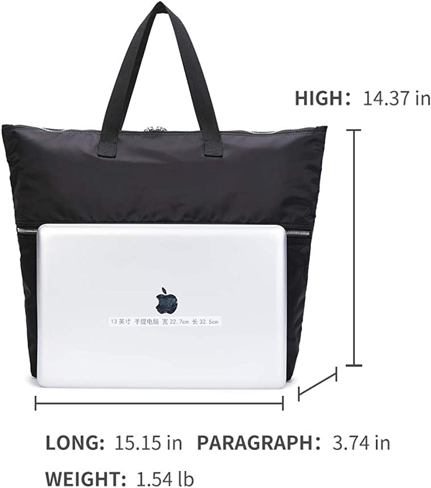 Laptop Briefcase,Mens Business Travel Office Nylon Carrying Bags Backpack Convertible Shoulder Bag-YONBEN Laptop Tote Bag