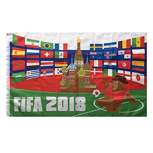 WOWMAR 2018WorldCupFlagRussiaSoccerFootballFla