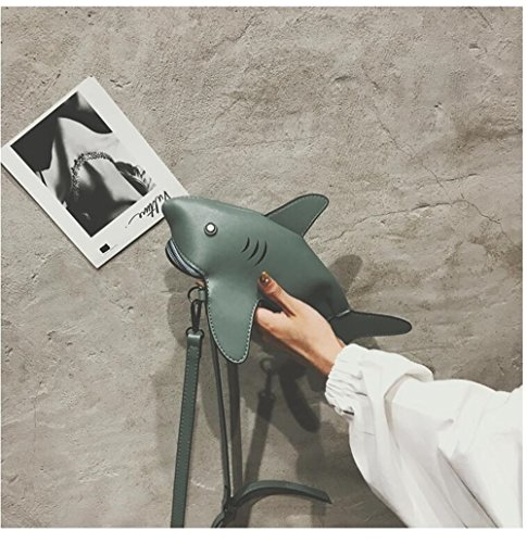Green Couture en Mode Sac À Tissu Requin Décontracté Sac Sauvage Féminin Sac Nylon Sac Main Épaule Messenger Broderie Big Nouvelle Sac De Av1xEYq