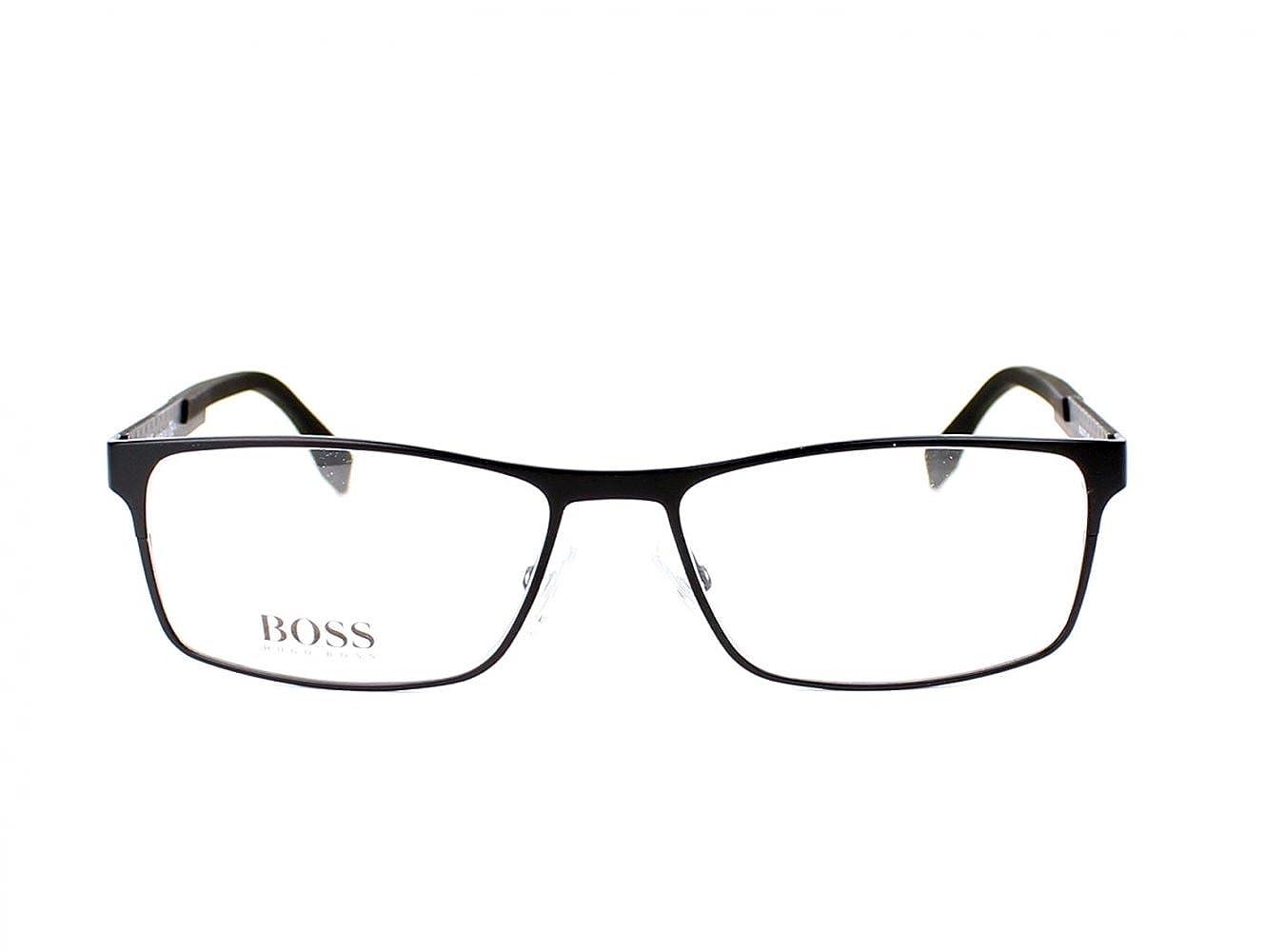 888afeb2f93 Amazon.com  Hugo Boss frame (BOSS-0775 HXE) Metal Matt Black - Carbon   Clothing