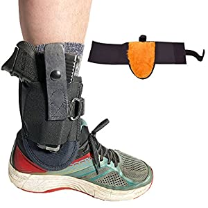 Blue Stone Safety Undercover Ankle Holster with D-Ring| Most Secure Ankle Holster in the Market| Fits Snub nose Revolvers, Glock 26,Glock 27,Glock 30,S&W Shield,Sig P239, and Similar Sized Weapons. Sheepskin lined