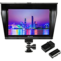 VILTROX DC-90HD 4K HDMI monitor Full HD 1920x1200 IPS 8.9 Clip-on LCD Camera Video Monitor Display HDMI AV Input for Canon Nikon DSLR BMPCC, Battery with Charger(included)