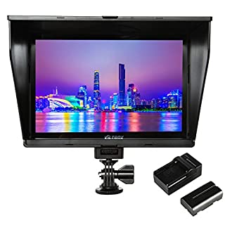 """VILTROX DC-90HD 4K HDMI Monitor Full HD 1920x1200 IPS 8.9"""" Clip-on LCD Camera Video Monitor Display HDMI AV Input for Canon Nikon DSLR BMPCC, Battery with Charger(Included)"""