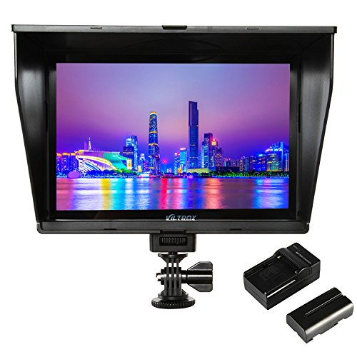 VILTROX DC-90HD 4K HDMI Monitor Full HD 1920x1200 IPS 8.9 Clip-on LCD Camera Video Monitor Display HDMI AV Input for Canon Nikon DSLR BMPCC, Battery with Charger(Included) ...