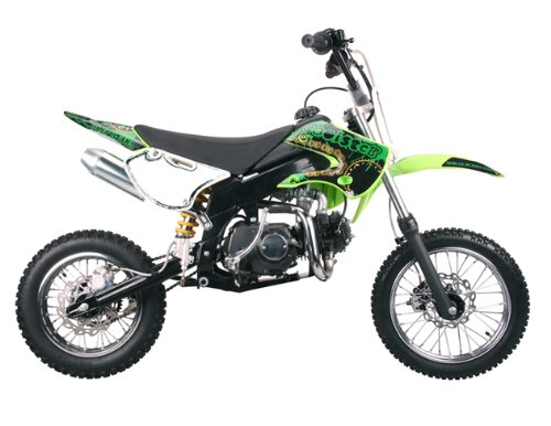 Dirt bike 125cc Semi Auto Clutch, Green - Manual Clutch Dirt Bike