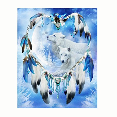 5D Diamond Painting, callm Hot Sale DIY Cross Stitch Kit Peacock Diamond Embroidery Painting Drill Arts Craft Supply for Home Wall Decor (Dream Catcher)