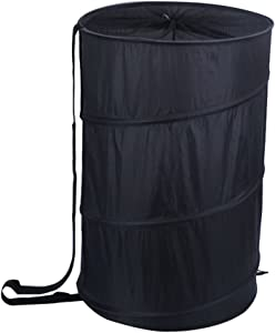 WDHome Pop up Laundry Hamper, Collapsible Laundry Basket for Dirty Clothes/Toys Storage,Large Storage Hampers for Dorm Room Accessories - Children's Toys Basket, 18 x 26 Inch-Black